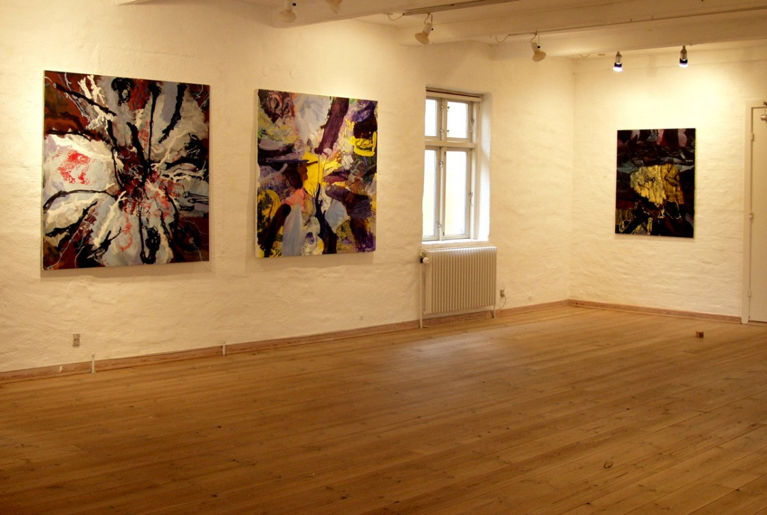 Painting on 1st floor | From left: REMBRANDT HEADS, UNTITLED and NIGHTWALK